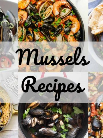 Collage of easy mussels recipes