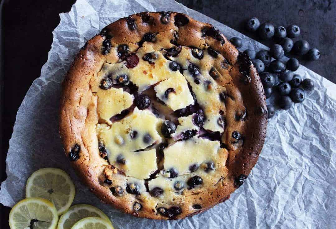 Baked Lemon & Blueberry Cheesecake - Slow The Cook Down