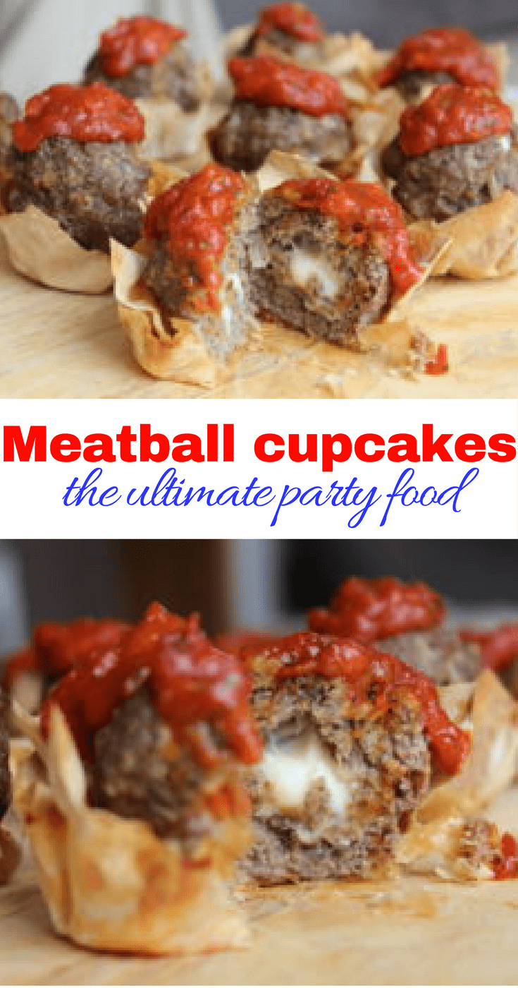 The meatball cupcakes will be the show stopper at your next dinner party! These melt in the middle meatballs are packed full of flavour, nestled in a filo pastry case and topped with a rich tomato sauce. Perfect finger food!