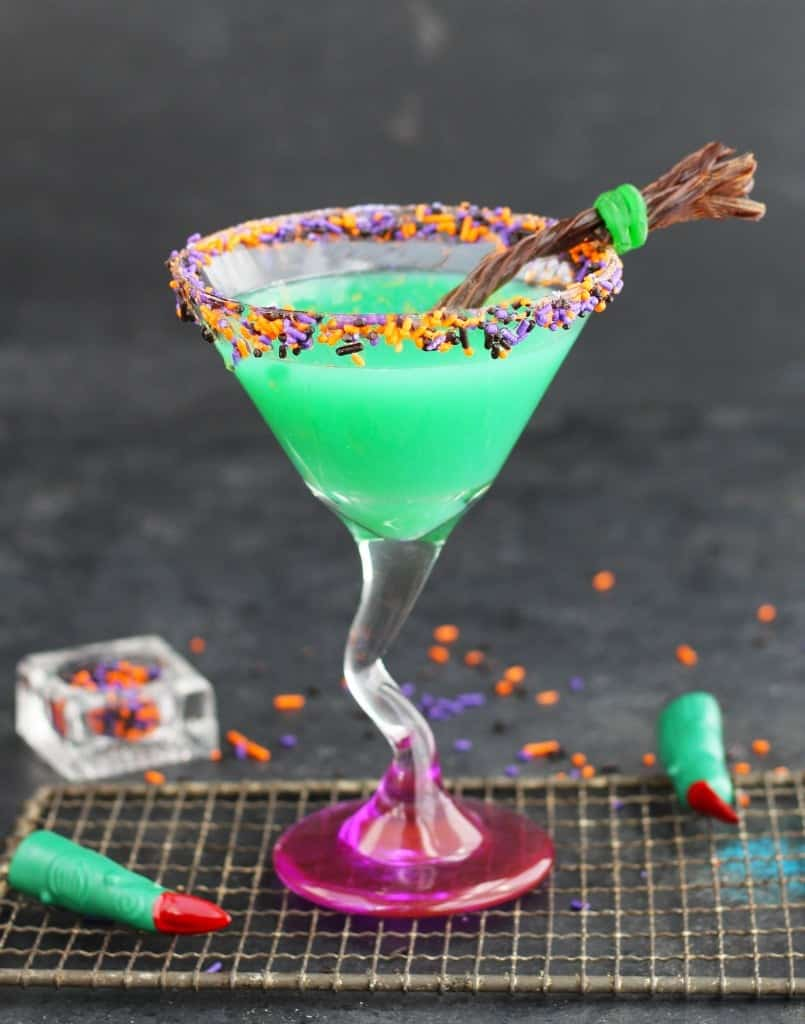 A melted witch martini