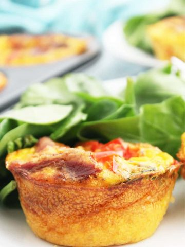 Close up of an egg muffin cup