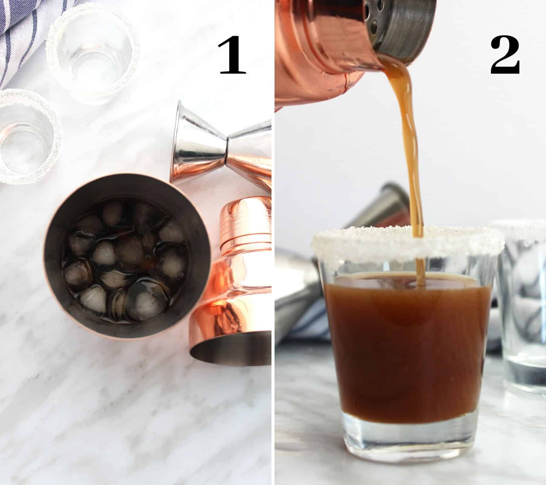 Two shots to show how to make the shooters