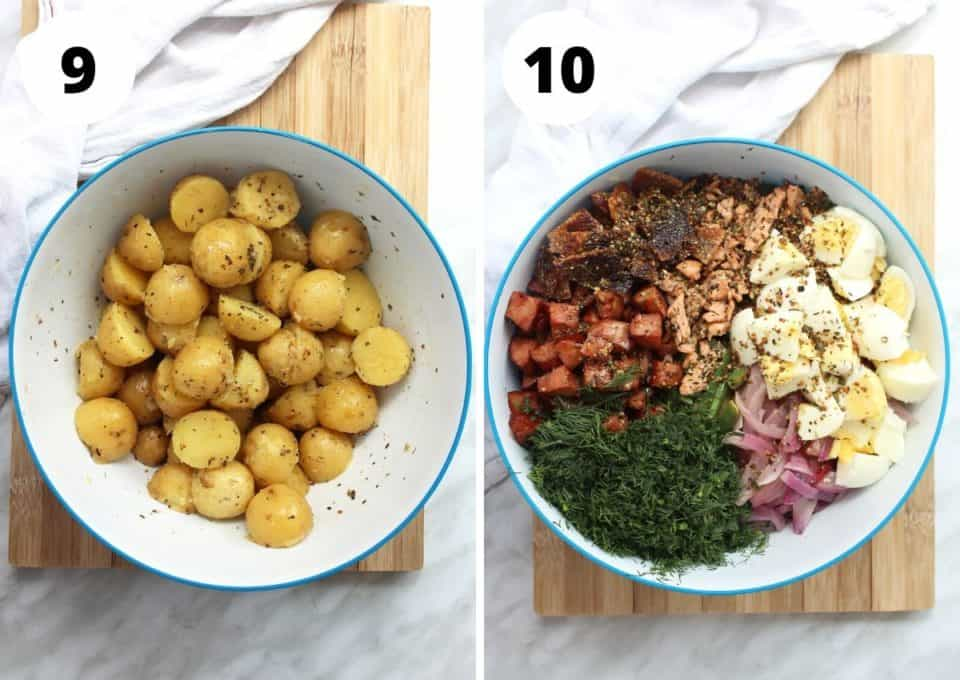 Two photos to show all of the ingredients before mixing