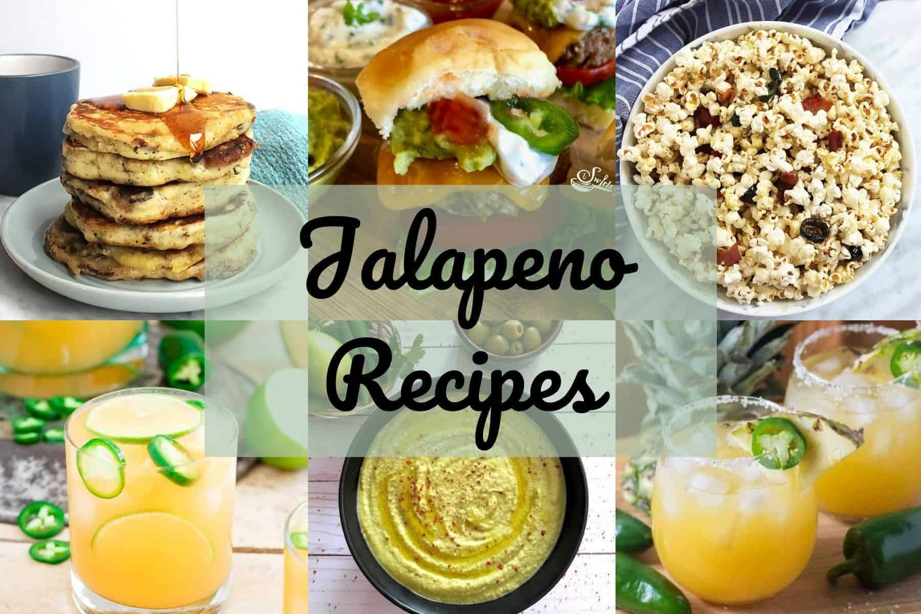 Collage of jalapeno recipes with text overlay