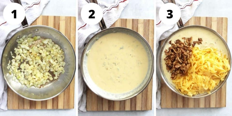 Three step bu step recipes to show how to make the recipe.