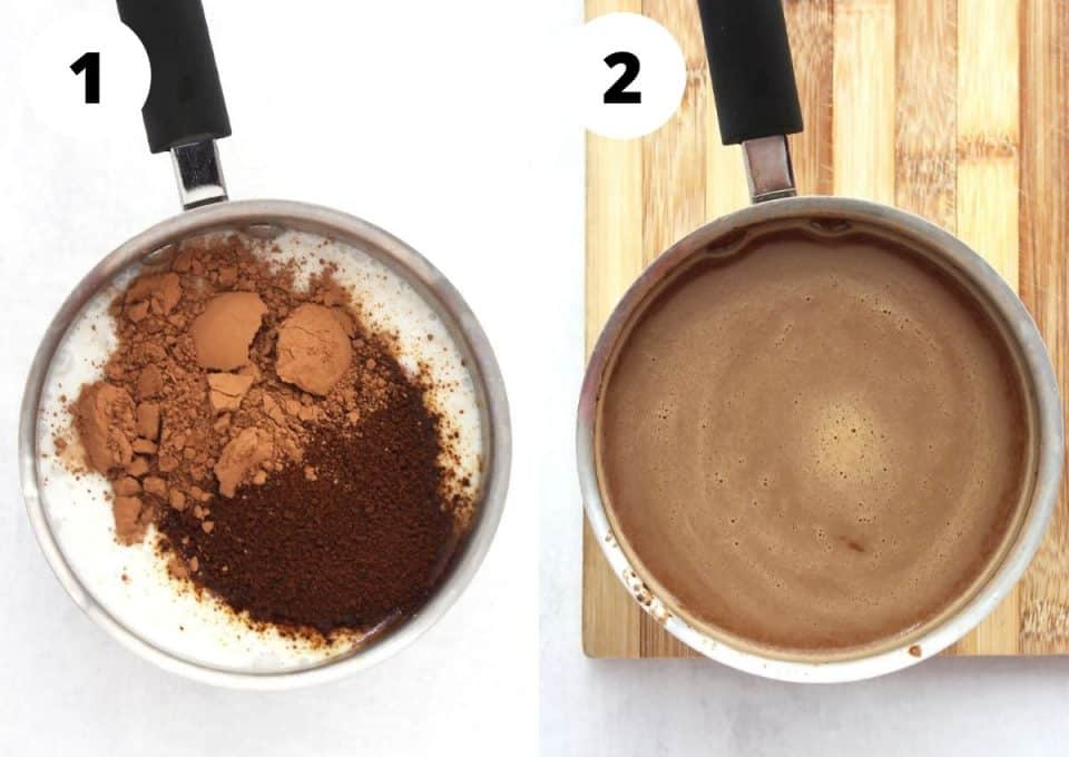 Two step by step photos to show how to make the recipe.